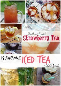 Summer Iced Tea Recipes including Homemade McAlisters Sweet Tea!