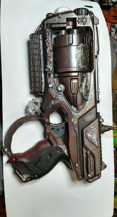 Maverick Nerf gun I kitbashed and steampunk'd out for Wally's steam shop