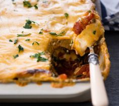 This vegetarian lasagne is perfect for meat-free Monday dinners. Vegetarian Lasagne, Vegetarian Recipes, Food Gifts, Recipe Collection, Lasagna, Quiche, Veggies, Yummy Food, Dinners