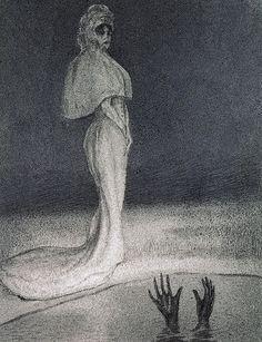 Alfred Kubin (Austrain, 1877 - 1959)      Drowning (La Noyade), N/D