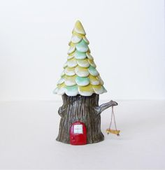 Little Tree House Sculpture by jessicajaneHANDMADE on Etsy