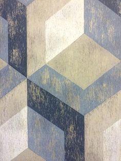 A Street Prints Wallpaper - Geometric Wood Grey - FD22311