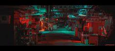 Cyberpunk Art, Nocturne, Art Director, Game Design, Neon, Urban, Fantasy, Landscape, City