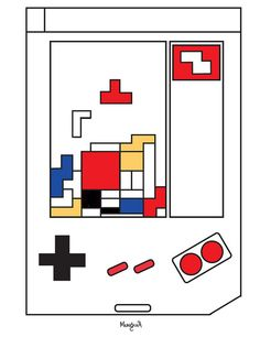 Mondrian, Famous Artwork, Cornelius, Funny Art, Art History, Cartoons, Comics, Abstract, Design