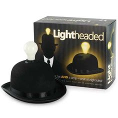 Iconic bowler hat that doubles as a lamp!