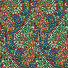 Filigree Paisley Design / Cultural Pattern Style // High-quality Vector Pattern Designs at patterndesigns.com - , designed by Dalbir Kaur