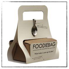 #Voedselverspilling Foodie bag, de design versie van de doogy bag #nofoodwaste