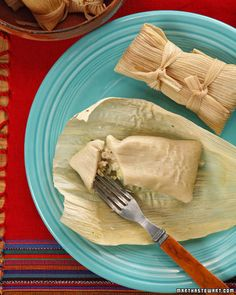 Chicken and Green Salsa Tamales Recipe.