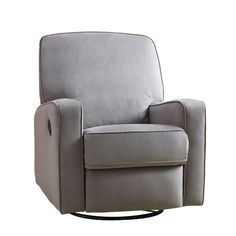 Sutton Grey Swivel Glider Recliner Pulaski Furniture Recliners Chairs & Recliners Living R