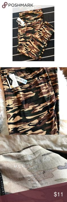 I just added this listing on Poshmark: Woman's plus Size Camo Leggings. #shopmycloset #poshmark #fashion #shopping #style #forsale #yummy ready to go #Pants