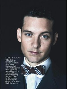 The Great Gatsby (2013) | Style stakes from the May 2013 issue of Australian Vogue: Tobey Maguire (Nick Carraway).