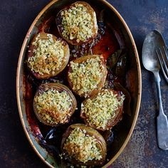 Baked Onions with Fennel Bread Crumbs   Food & Wine