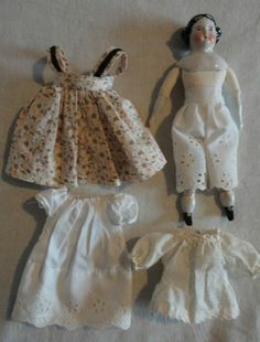 1910s Germany bisque porcelain dollhouse doll legs 1.9 x 0.55 porcelain doll parts rare slim french style doll legs