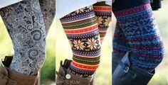 White Plum Fur Lined Print Leggings Only $11.99! 24 Styles!