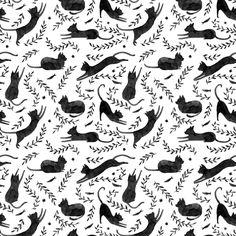 Black Cat Pattern | Julianna Swaney