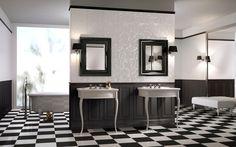 Produkt włoskiej marki Cisa Ceramiche; kolekcja dostępna jest w kolorach klasycznej czerni i bieli, oraz eleganckiego połączenia beżu z różem.