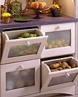 Wood-Mode, Custom Drawer Convenience Options - Appliance Garage Recycling Centers Curved Door Cabinets Chefs Pull-out Pantrys