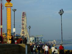 North beach promenade and ''Bridlington wheel''