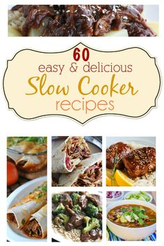 60 Slow Cooker Recipes