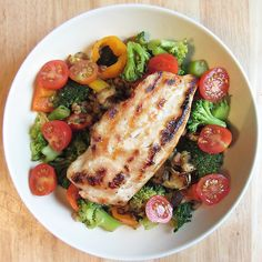 eat-pure:  lunch: grilled chicken with pearl barley, steamed...