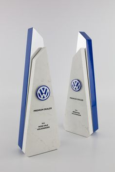 Volkswagen Dealer of the Year Award Trophies | Marble & Metal | Design Awards