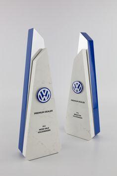 Volkswagen Dealer of the Year Award Trophies | Marble & Metal | Design Awards