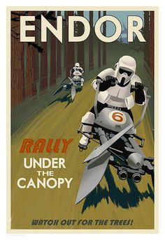 Star_Wars_Endor_Rally_Under_The_Canopy_Steve_Thomas_Travel_Poster by toybot studios
