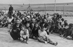 A group of Romanies (Gypsies) about to be gassed in Belzec extermination camp. (Picture found on a SS prisoner.)