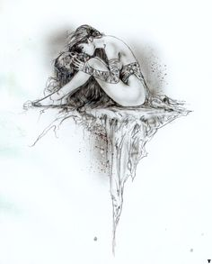 Luis Royo kiss the skull