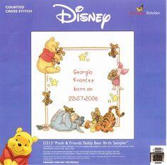 Winnie the Pooh Pooh & Friends Teddy Bear Birth Sampler