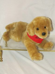 """13"""" Long Douglas Plush Tan Stuffed Labrador Lab Retriever CABELA'S Puppy Dog"""
