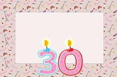 30 Anos Paris - Kit Completo com molduras para convites, rótulos para guloseimas, lembrancinhas e imagens!