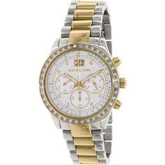 View 1 - Michael Kors Women's Brinkley MK6188 Silver/Multicolor Stainless-Steel Quartz Watch