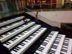 Piano keys steps