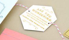 hexagon wedding invitation
