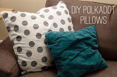 DIY polkadot pillows DIY Crafts
