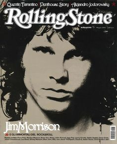I didn't know Rolling Stone magazine had an Italian version!  I dig the Jim Morrison cover of this issue.