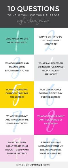 10 Questions to Help You Live Your Purpose. Journal prompts for self discovery. These questions are great for delving a little deeper into your purpose and goals! Journal Prompts, Writing Prompts, Work Journal, Live For Yourself, Finding Yourself, Coaching Personal, Life Coaching, Personal Fitness, Life Purpose