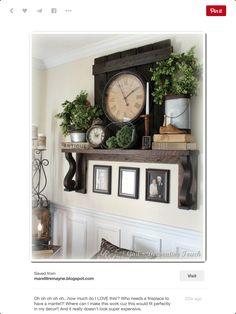 Easy Home Decorating Ideas Shelf Behind Couch, Interior Design Living Room, Living Room Decor, Living Spaces, Floating Mantel Shelf, Dining Room Shelves, Flex Room, Farmhouse Wall Decor, Simple House