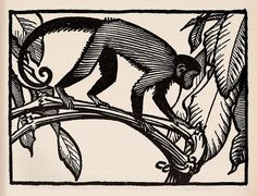 Monkey  - Keith Henderson Illustration for The Purple Land c.1930 by Thomas Shahan 3, via Flickr