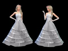 Wedding Dress at Dress To Impress via Sims 4 Updates