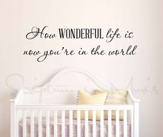 How Wonderful Life Is Now You're In The World by ScriptumVinyl