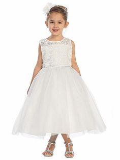 9da71528029 White Rose Lace Bodice w  Tulle Skirt
