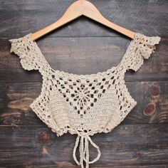 A personal favourite from my Etsy shop https://www.etsy.com/listing/525645256/crochet-boho-crop-top-wing-sleeve-lace
