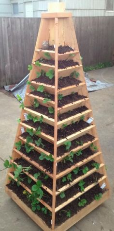 How To Build A Vertical Pyramid Planter...http://homestead-and-survival.com/how-to-build-a-vertical-pyramid-planter/