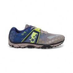 f43484ed337 New Brooks Mens PureGrit 4 Blue Gray Trail Running Athletic Shoes Size 12   Brooks