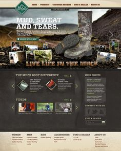 Muck Boots Website Design Concept repinned by www.BlickeDeeler.de