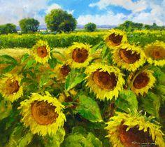 "G. Nesvadba ""Sunflower Field"" http://www.artshopnc.com/component/content/article/318.html"
