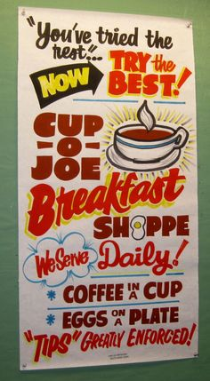 Breakfast Shoppe by Dad's Paper Signs