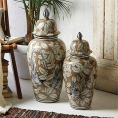 Tozai Home S/2 Decorative Temple Jars.